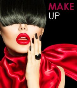 Proffesional make up application at Elements hair & beauty salon in Bishops Stortford