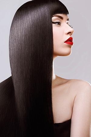 Straight Sleek Hair Ideas