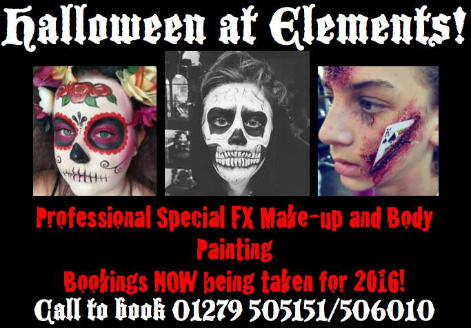 Special fx halloween makeup elements salon bishop 39 s stortford for Absolutely flawless salon