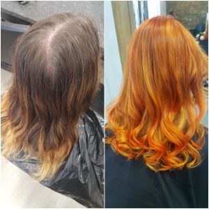 hair colour correction, hair by elements hairdressers in bishop's stortford