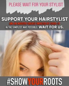 show your roots, coronavirus hair service, hair by elements hairdressers, bishop's stortford
