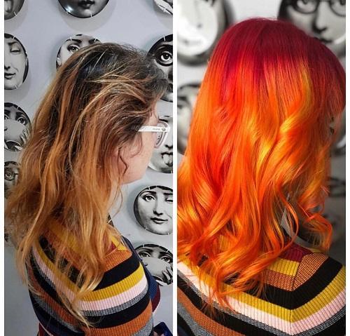 hair colour transformation hair by elements hairdressers bishops stortford hertfordshire