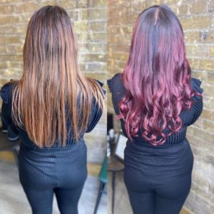 red hair colours at hair by elements hairdressers bishops stortford hertfordshire