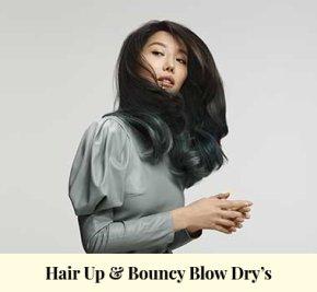 Hair Up & Bouncy Blow Dries