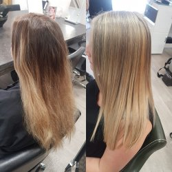 before-and-after-highlights at Hair by Elements Hairdressers in Bishop's Stortford