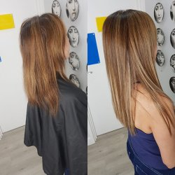 Hair Extensions Before and After at Hair by Elements Hairdressers in Bishop's Stortford