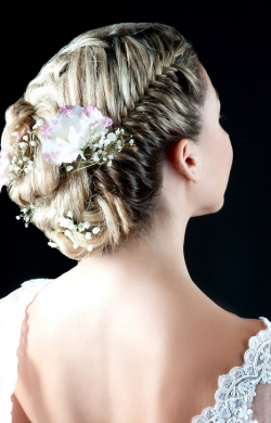 Beautiful bridal hair & make-up at Hair by Elements Salon in Bishop's Stortford