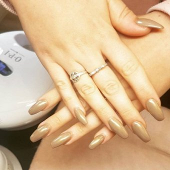 nude nails  at the Nails Lounge in Bishop's Stortford