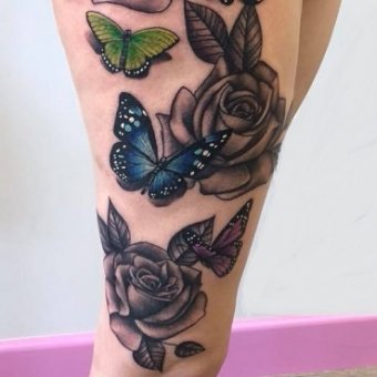 ROSES TATTOOS, Two Cats Tattoo Studio, Hair by Elements hair salon in Bishop's Stortford