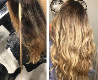 Hair Colour Correction by Elements Hairdressers in Bishop's Stortford